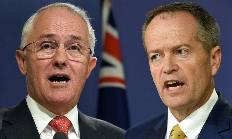Ai trong hai ông Malcolm Turnbull (trái) và Bill Shorten sẽ là thủ tướng Úc tiếp theo?