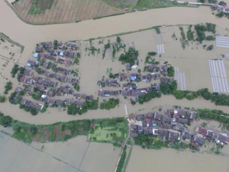 Lụt trắng tỉnh Giang Tô ngày 4-7.