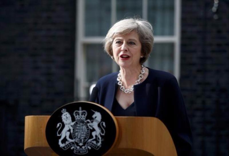 Nữ Thủ tướng Anh Theresa May phát biểu nhậm chức ngày 13-7.