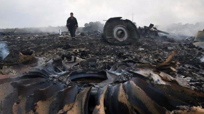 Hiện trường chiếc MH17 bị bắn rơi.