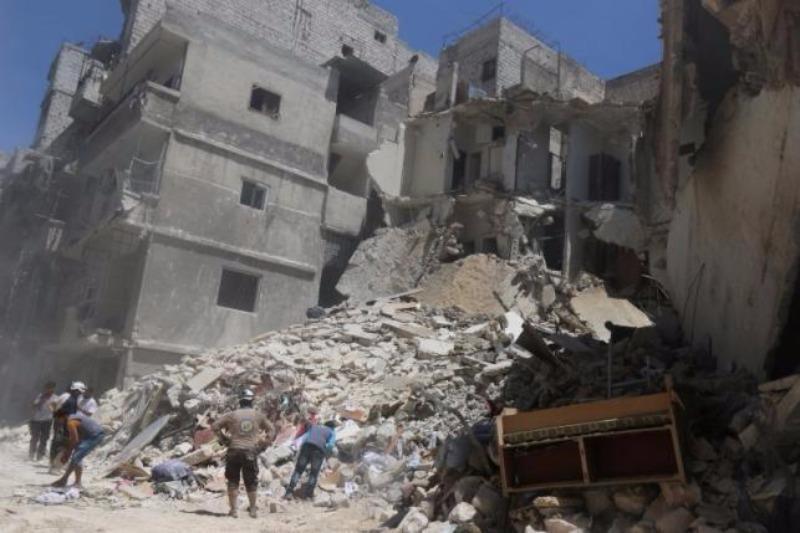 Khu vực phe nổi dậy kiểm soát ở Aleppo tan hoang vì giao tranh ngày 26-7.