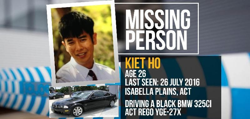 Thanh niên tên Kiet Ho trong bức ảnh được đăng trên trang web cảnh sát liên bang Úc. Chiếc xe trong hình không phải là xe Kiet lái mà chỉ là hình minh họa.