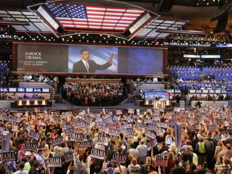 """""""Trong một nước Mỹ cao thượng thì không cần phải giàu mới đạt được điều tốt nhất.""""-Tổng thống Obama phát biểu tại đại hội đảng Dân chủ năm 2004."""