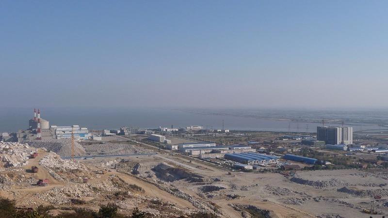 Nhà máy hạt nhân Thiên Quân ở Liên Vân Cảng đang được mở rộng.