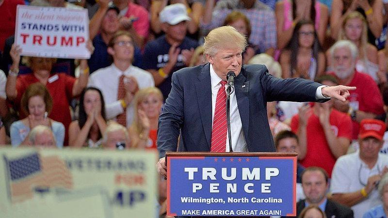 Ông Trump phát biểu tại TP Wilmington (North Carolina, Mỹ) ngày 9-8.