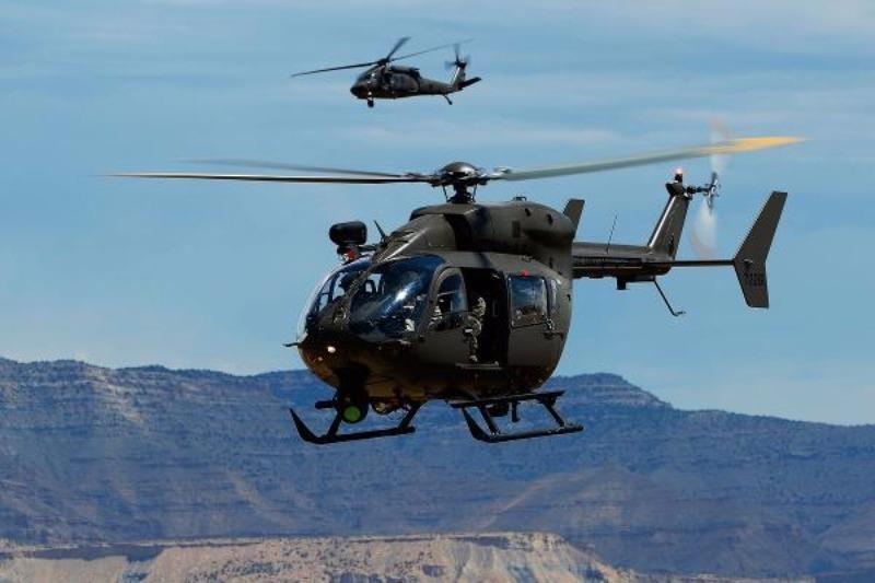Trực thăng quân sự UH-72 tương tự chiếc chở 5 sĩ quan Thái Lan vừa mất tích.