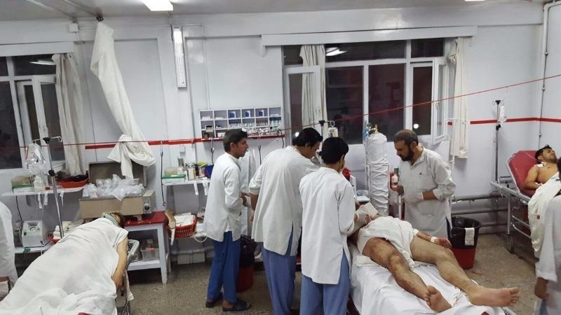 Sinh viên bị thương được cấp cứu tại bệnh viện.