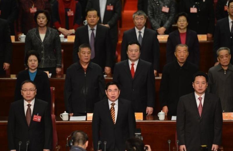Lý Tiểu Bằng (phải, hàng đầu) từ chức Chủ tịch tỉnh Sơn Tây có thể để làm Bộ trưởng Giao thông.