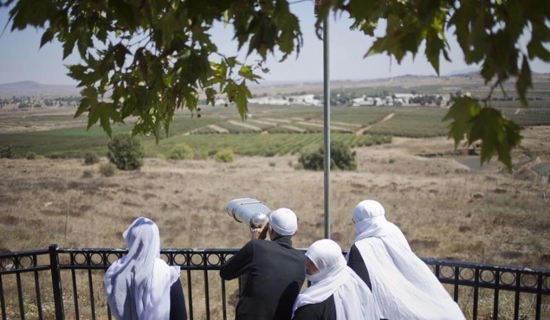 Người Druze ở Israel trên Cao nguyên Golan ngày 13-9.