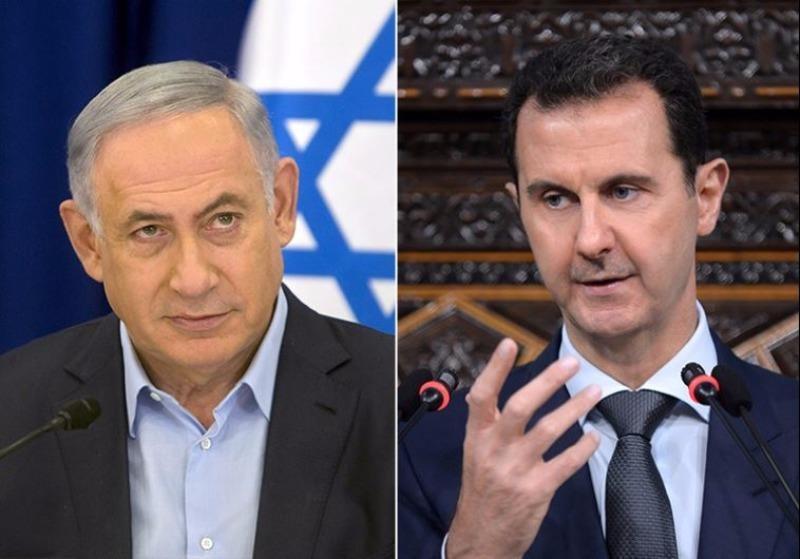 Thủ tướng Israel Benjamin Netayahu (trái) và Tổng thống Syria Bashar Assad.