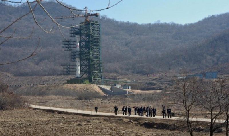 Bãi thử hạt nhân Punggye-ri của Triều Tiên.