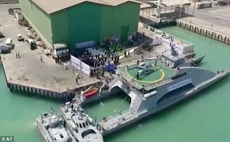 Tàu chiến tốc độ cao Iran ra mắt ngày 13-9.