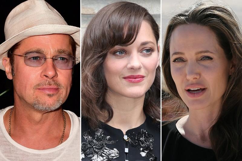 Brad Pitt bị vợ ly hôn vì lăng nhăng với bạn diễn Marion Cotillard (giữa)?