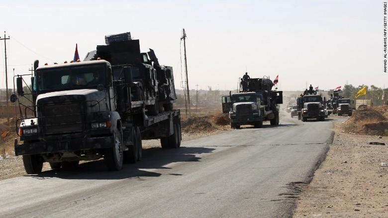 Quân Iraq từ căn cứ không quân Qayyarah cách Mosul 60km chuẩn bị tiến về Mosul trong ngày 16-10.