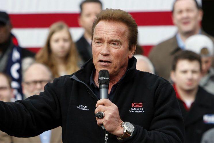 Nam diễn viên nổi tiếng Arnold Schwarzenegger nói nếu sinh ra ở Mỹ ông sẽ tranh cử tổng thống cạnh tranh ông Trump.