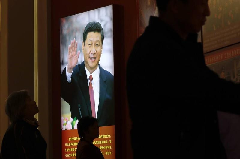 Hình ảnh Chủ tịch Trung Quốc Tập Cận Bình được trưng bày tại một bảo tàng ở Bắc Kinh (Trung Quốc).