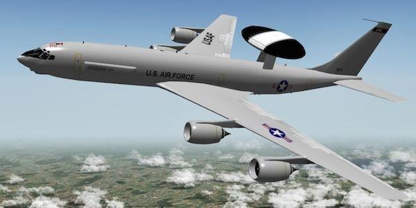 Máy bay cảnh báo sớm E-3 của Mỹ.