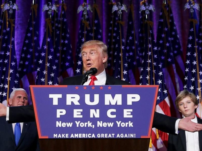 Ông Trump thề sẽ thay đổi triệt để nước Mỹ.