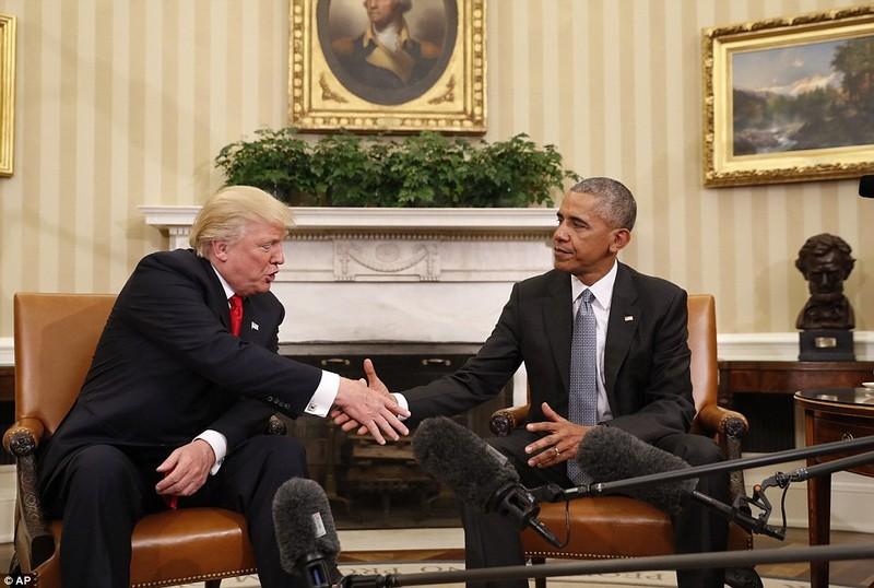 Ông Trump gặp Tổng thống Obama tại Nhà trắng ngày 10-11.