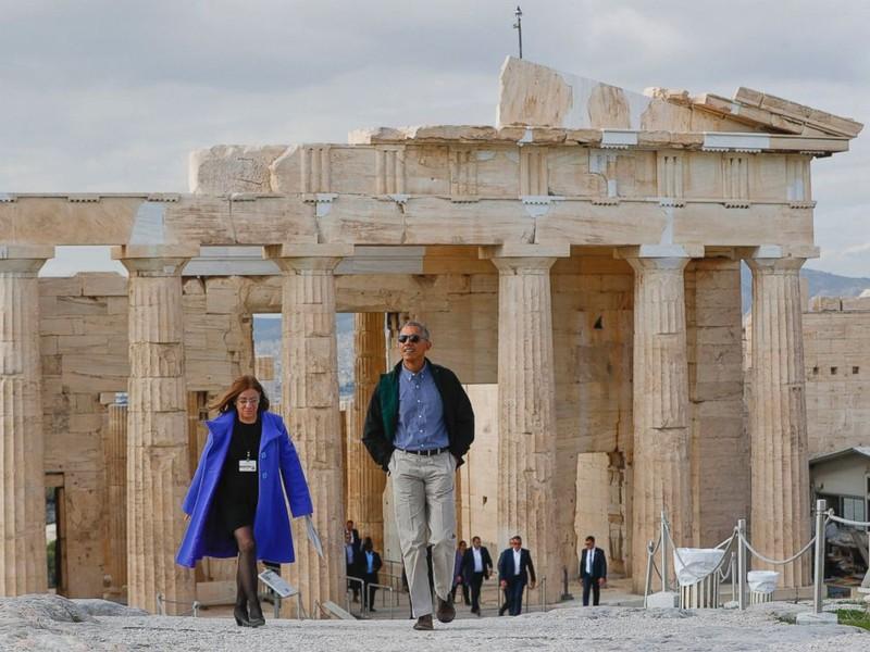 Tổng thống Obama thăm thành cổ Hy Lạp ngày 15-11 trước khi đến Đức.