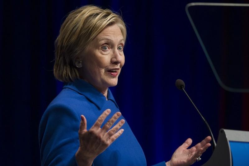 Bà Clinton không nhắc đến ông Trump trong buổi nói chuyện.
