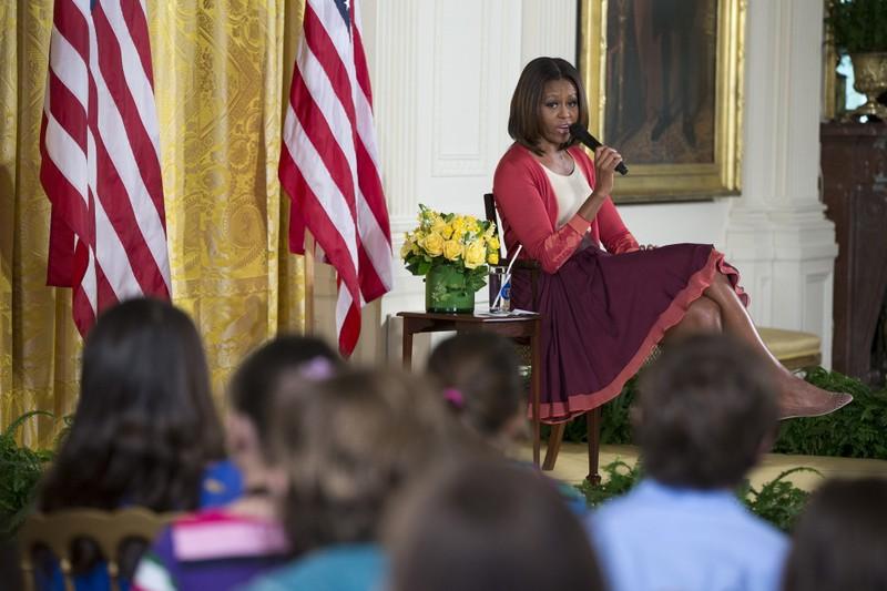 Đệ nhất phu nhân Michelle Obama trong trang phục Sophie Theallet.