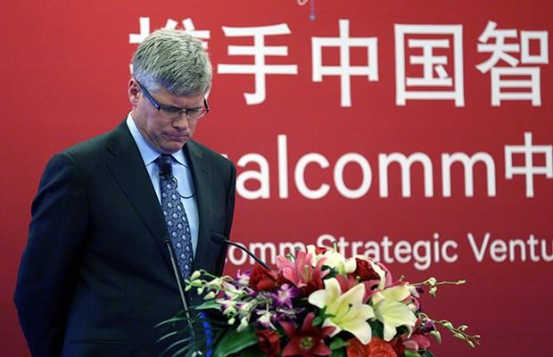 Giám đốc điều hành Qualcomm Steve Mollenkopf trong một cuộc họp báo ở Trung Quốc năm 2015. Ảnh: DAILY TECH