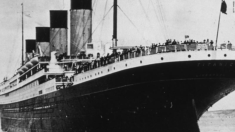 Tàu Titanic trong chuyến đi đầu tiên và cuối cùng tháng 4-1912. Ảnh: CNN