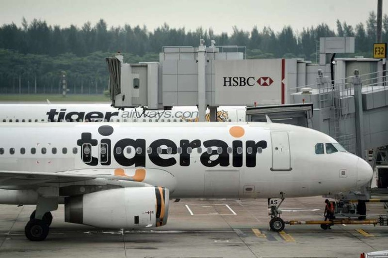 Một máy bay của hãng hàng không Tigerair của Singapore. Ảnh: STRAITSTIMES