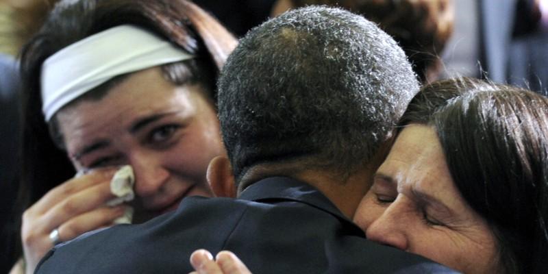 Gặp gỡ người thân nạn nhân là ngày tổng thống khó khăn nhất của ông Obama