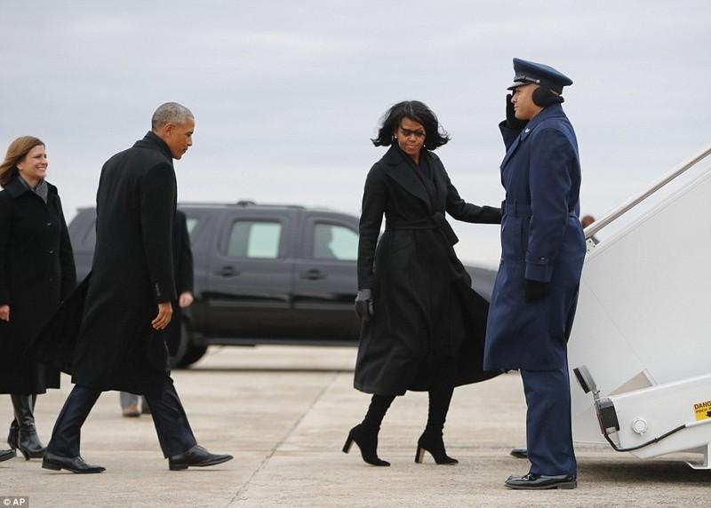 Lần cuối Tổng thống Obama bay trên chiếc Không lực Một - ảnh 1