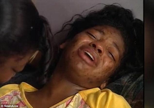 Người mẹ đau khổ Shanara Mobley hai ngày sau khi con bị bắt cóc. Ảnh: DAILY MAIL