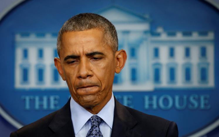 Tổng thống Barack Obama cảnh báo ông Trump cẩn trọng về Nga và Trung Đông trong cuộc họp báo cuối cùng ngày 18-1 trước khi mãn nhiệm. Ảnh: REUTERS