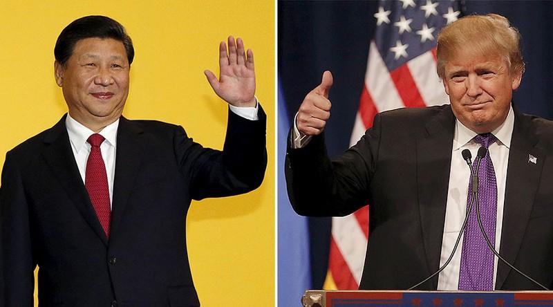 Tổng thống Mỹ Donald Trump (phải) vừa gửi thư chúc mừng năm mới đến Chủ tịch Trung Quốc Tập Cận Bình. Ảnh: RT