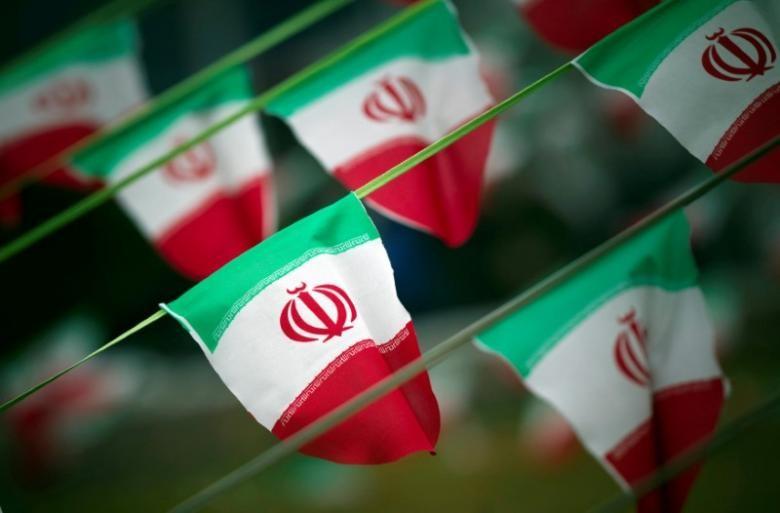 Cờ Iran tại thủ đô Iran. Ảnh: REUTERS