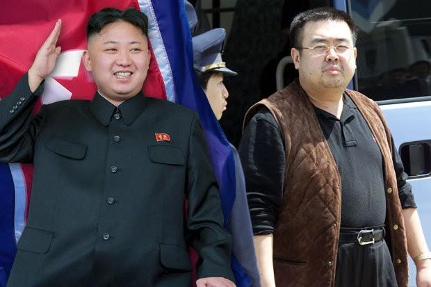 Thủ phạm ám sát ông Kim Jong-nam (phải), anh trai lãnh đạo Triều Tiên Kim Jong-un (trái) là điệp viên Triều Tiên? Ảnh: AP