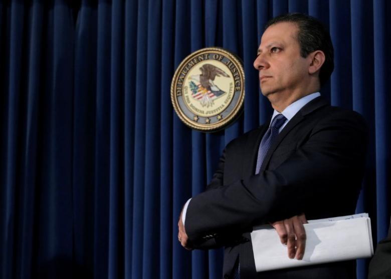 Trưởng công tố quận Manhattan (New York) Preet Bharara. Ảnh: REUTERS