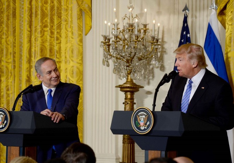 Thủ tướng Israel Netanyahu (trái) và Tổng thống Mỹ Trump tại Mỹ hồi tháng 2, sẽ gặp lại nhau tại Israel vào tuần tới. Ảnh: JERUSALEM POST