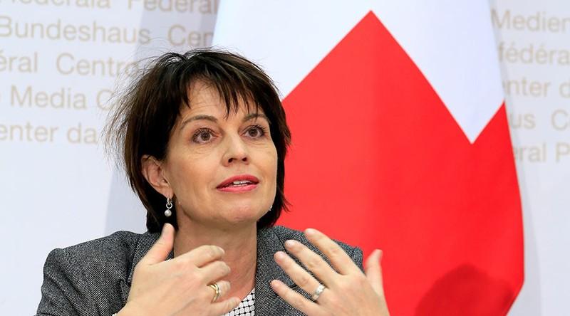 ổng thống Thụy Sĩ Doris Leuthard nói nước này sẵn sàng làm nhà trung gian giải quyết khủng hoảng Triều Tiên. Ảnh: REUTERS