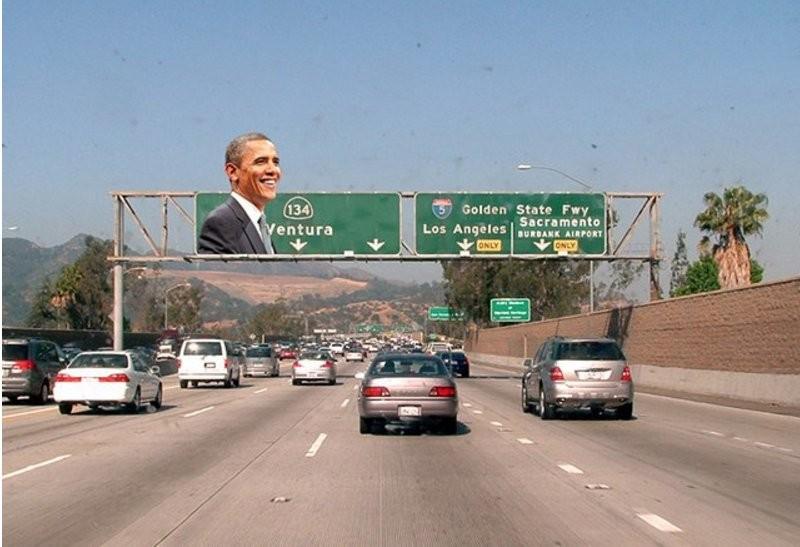 Người dân California tới đây sẽ được đi trên con đường mang tên Tổng thống Barach H. Obama. Ảnh: TWITTER