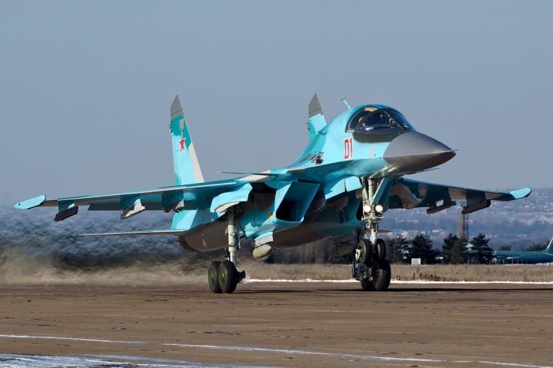 Máy bay ném bom Su-34 của Nga. Ảnh: NATIONAL INTEREST