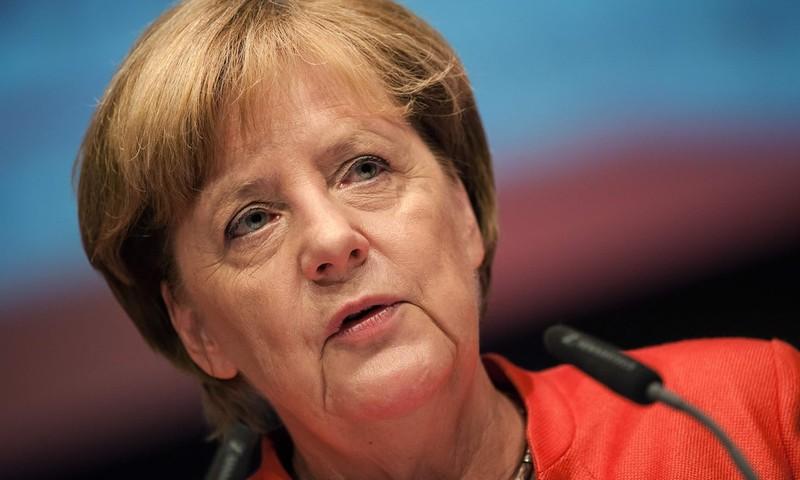 Thủ tướng Đức Angela Merkel nói sẵn sàng nhận vai trò đối thoại với Triều Tiên nếu được đề nghị. Ảnh: AFP