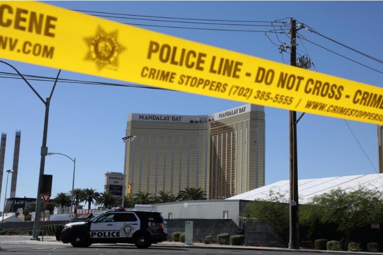 Địa điểm xả súng bị phong tỏa, ngày 2-10. Ảnh: REUTERS