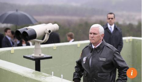Phó Tổng thống Mỹ Pence cũng từng đến làng Bàn Môn Điếm. Ảnh: SCMP