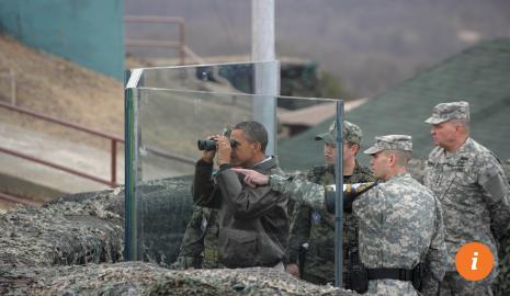 Tổng thống Mỹ Obama từng đến làng Bàn Môn Điếm. Ảnh: SCMP