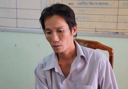 Đối tượng Trần Sơn Hạnh tại cơ quan điều tra.