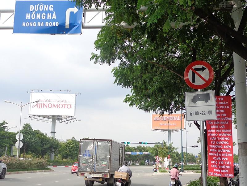 Từ 12-11, cấm ô tô tải lưu thông trên đường Hồng Hà - ảnh 1