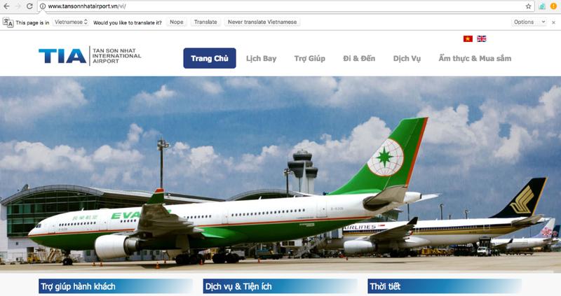 Nghi vấn website sân bay Tân Sơn Nhất lại bị hack? - ảnh 1