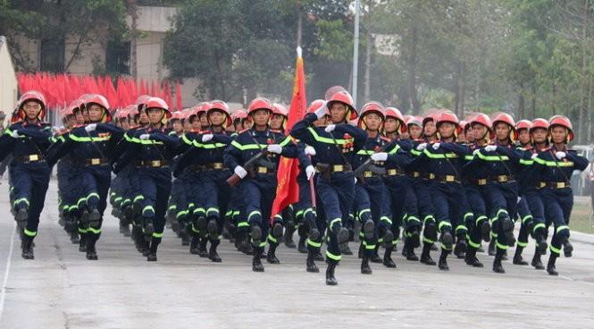 Khối nam Cảnh sát Phòng cháy chữa cháy