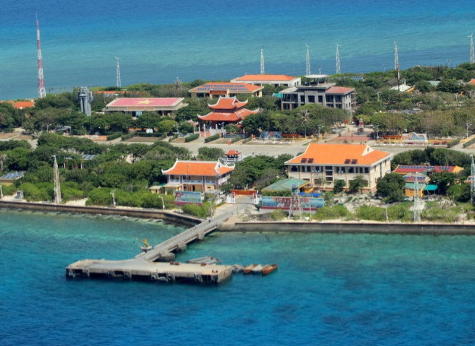 Ngắm toàn cảnh đảo Trường Sa lớn từ thủy phi cơ - ảnh 2